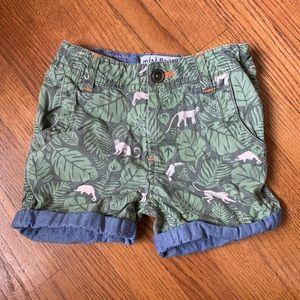 Mini Boden Jungle Shorts Size 3T